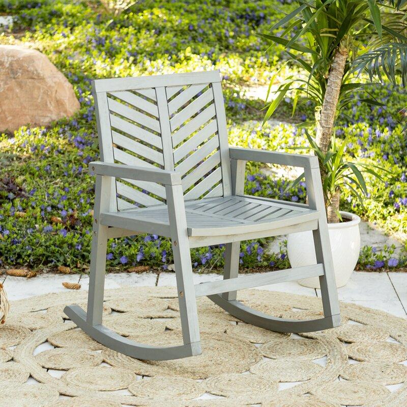 Skoog Outdoor Chevron Rocking Chair