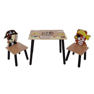 Dibble Children's 3 Piece Table And Chair Set By Zoomie Kids