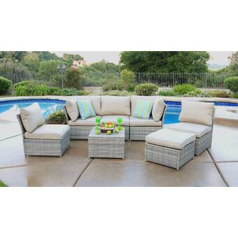 Quincy 7 Piece Sectional Seating Group With Cushions