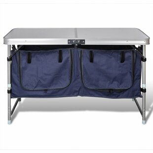 Review Foldable Camping Cupboard With Aluminium Frame