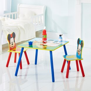 Eliza Disney Mickey Mouse Children's 3 Piece Table And Chair Set By Mickey Mouse & Friends