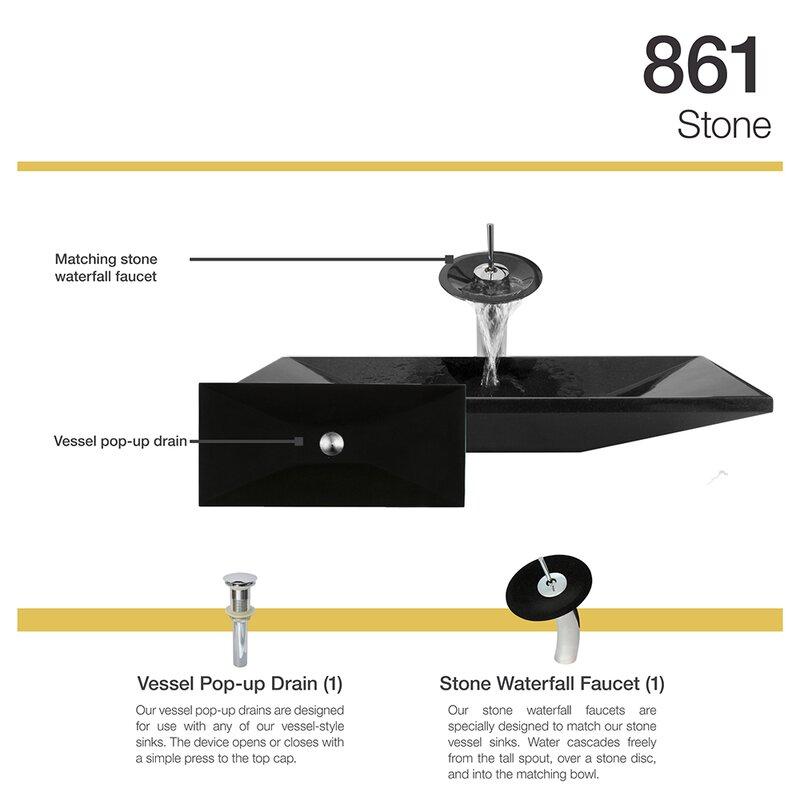 MRDirect Shanxi Stone Rectangular Vessel Bathroom Sink with Faucet ...