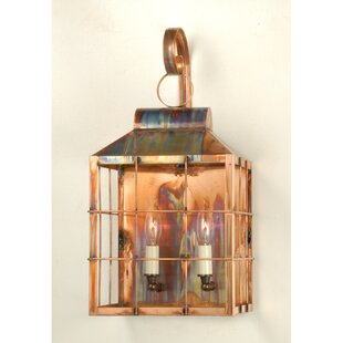 Meyda Tiffany 2-Light Outdoor Wall Lantern