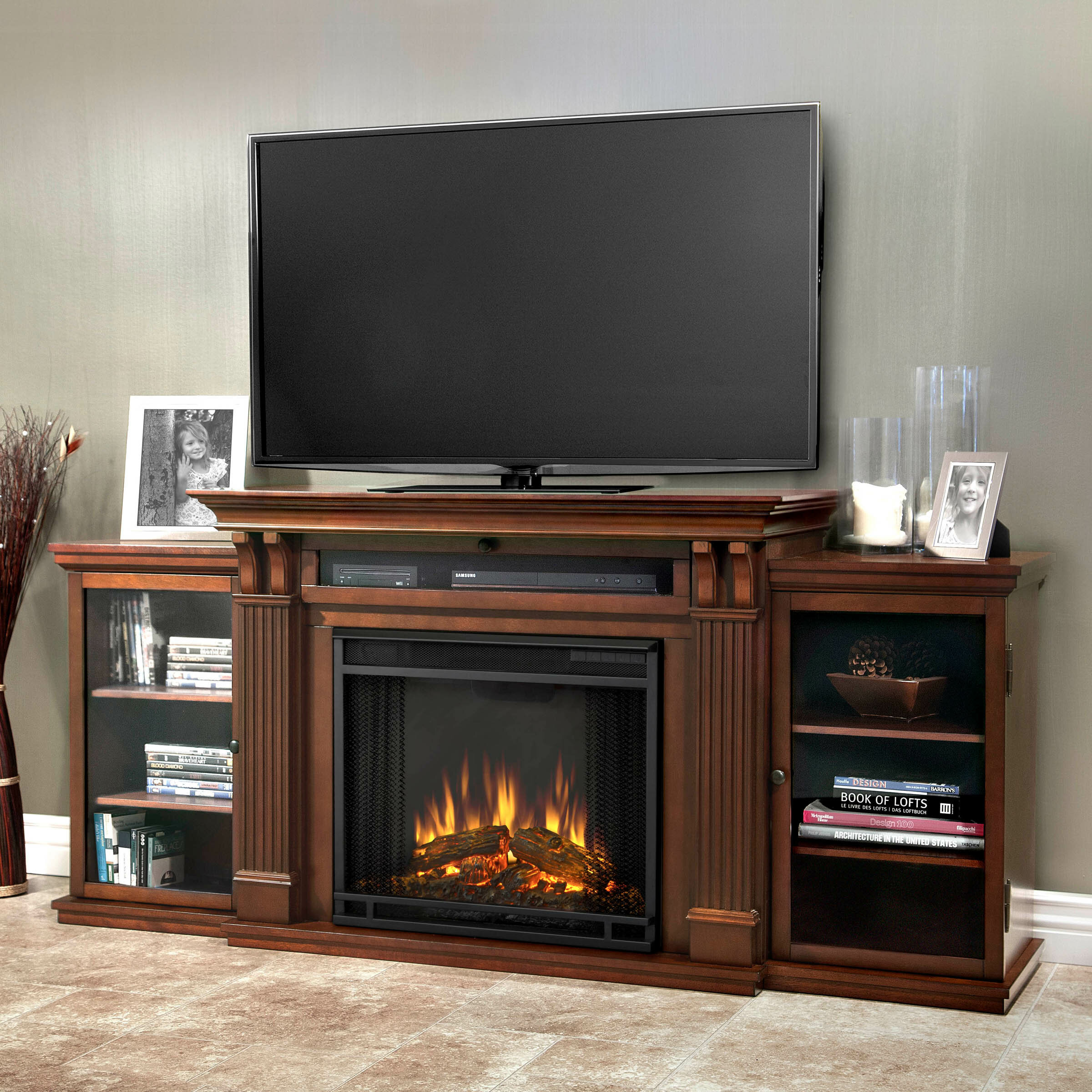 innovational stands fireplace interior tv fireplaces black ideas design modern with stand living