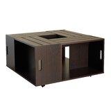 Henjes Wheel Coffee Table with Storage by Latitude Run®