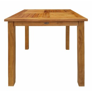 Chaim Outdoor Patio Teak Wood Side Table