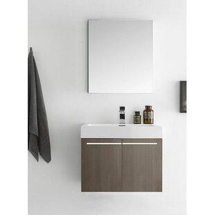 Senza 23 Alto Single Wall Mounted Modern Bathroom Vanity Set with Mirror by Fresca