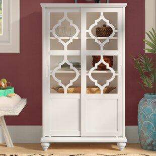 Bungalow Rose Wilhelmine Wood Curio Cabinet
