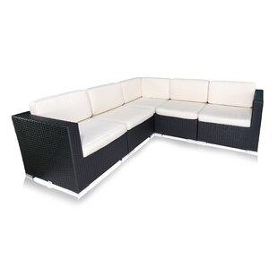Brayden Studio Bairdstown 5 Piece Sectional Set with Cushions