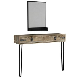 Cheap Price Deusenburg Console Table And Mirror Set