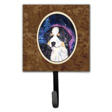 Starry Night Bernese Mountain Dog Leash Holder and Key Hook by Caroline's Treasures