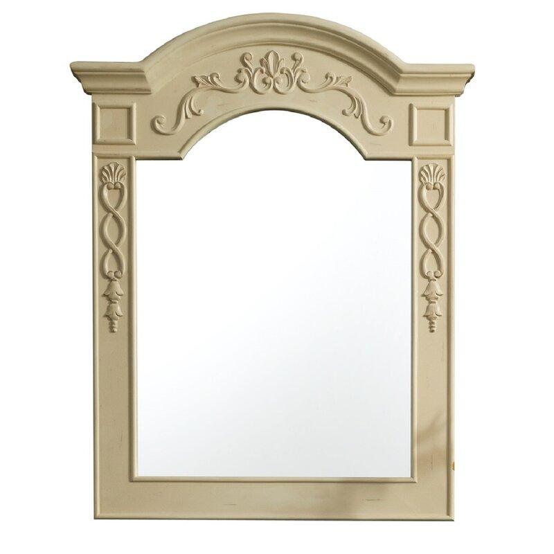 One Allium Way Traditional Beveled Bathroom /Vanity Mirror ...
