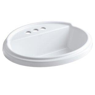 Kohler Tresham® Ceramic Oval Drop-In Bathroom Sink with Overflow