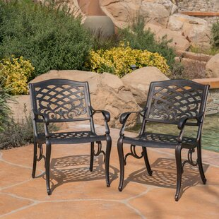 Brainerd Outdoor Patio Dining Chair (Set of 2)