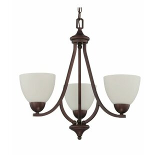 Fenton 3-Light Shaded Chandelier by Charlton Home