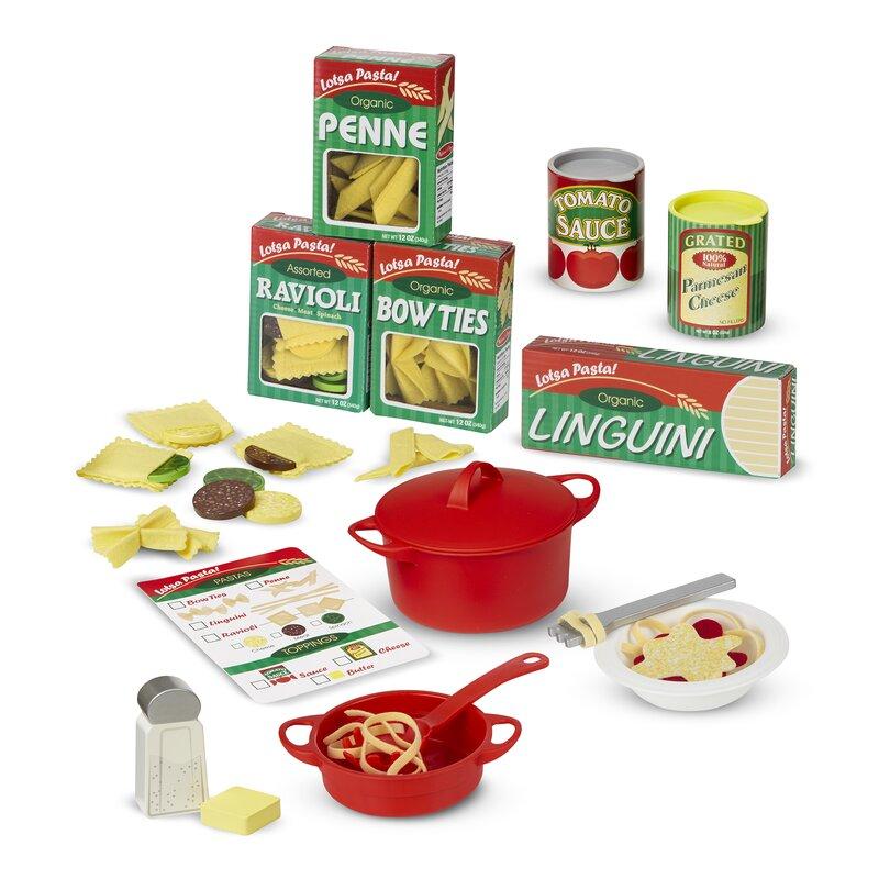 Melissa Doug 58 Piece Perfect Pasta Play Food Set Reviews Wayfair
