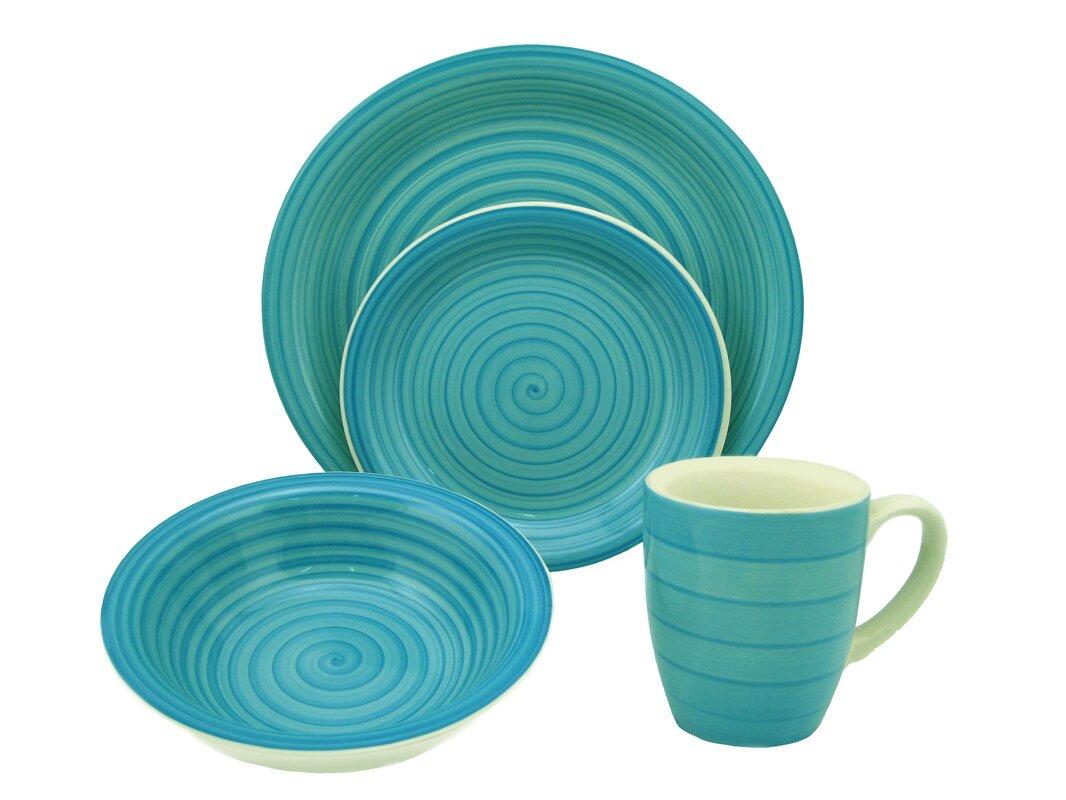 Save  sc 1 st  Wayfair & Aqua Dinnerware Set | Wayfair