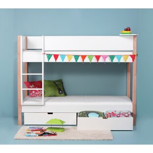 Review Ansel European Single Bunk Bed With Drawer