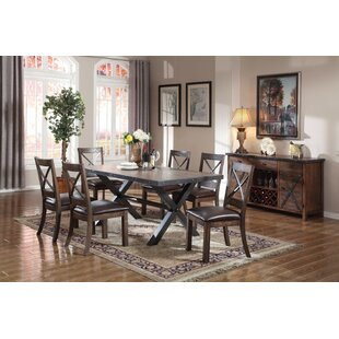 West Line Dining Table Millwood Pines