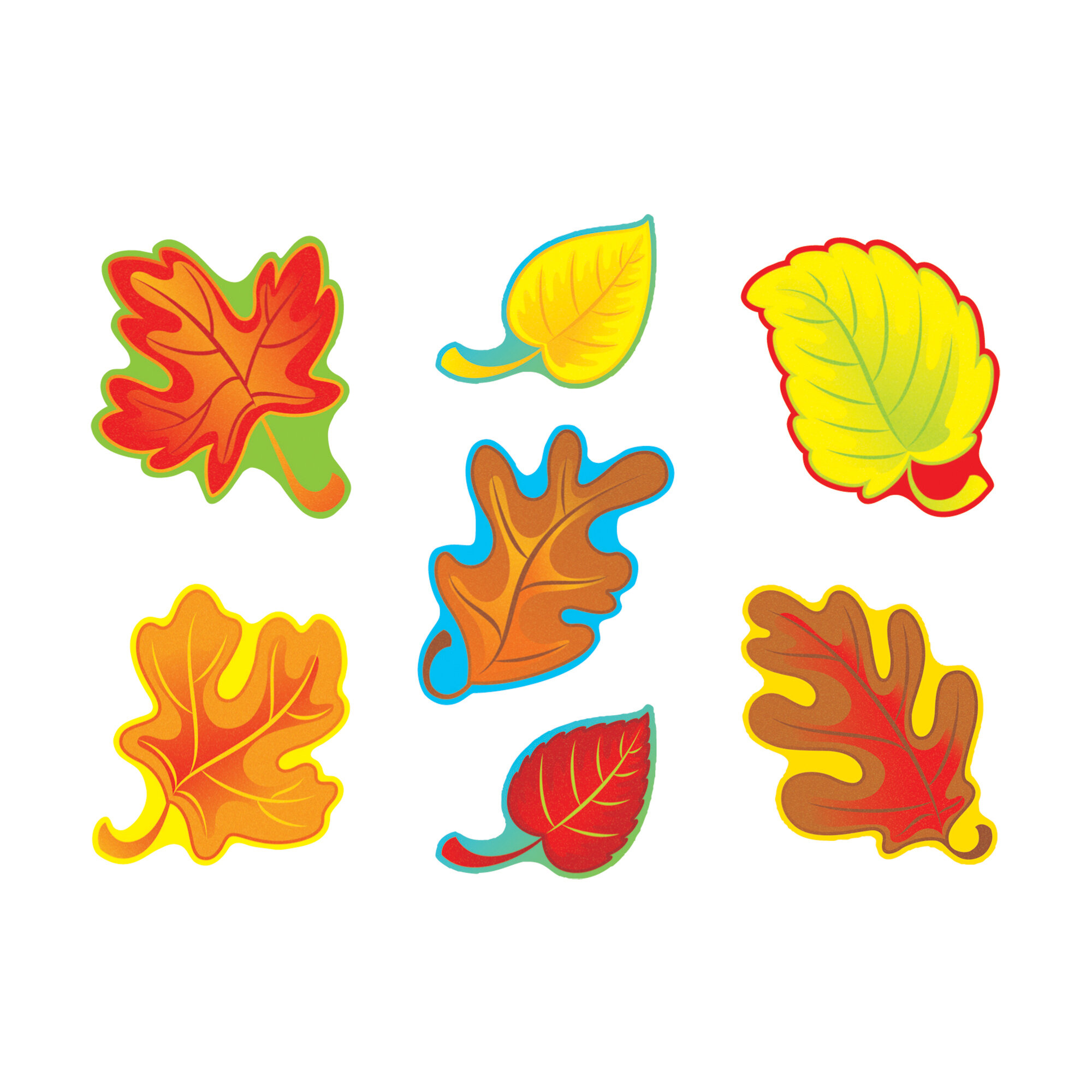 - Trend Enterprises 42 Piece Fall Leaves Variety Classic Bulletin