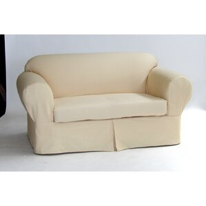 Box Cushion Sofa Slipcover by Red Barr..