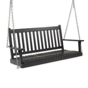 Slatted Wood Porch Swing