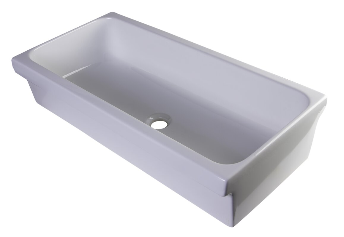 alfi brand rectangular vessel bathroom sink  reviews  wayfair - defaultname