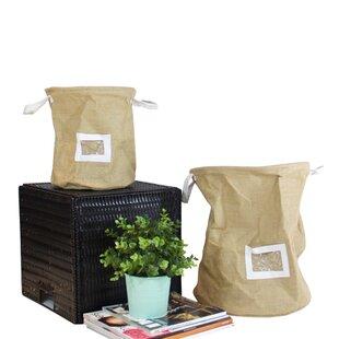 Drawstring Top Linen Storage Pop Up H&er with Handles and Label Window  sc 1 st  Wayfair & Basket Labels | Wayfair