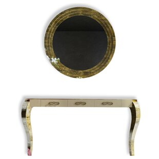 Rosdorf Park Farragutt Console Table and Mirror Set