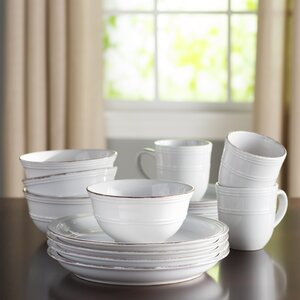 Annabelle 16 Piece Dinnerware Set, Service for 4