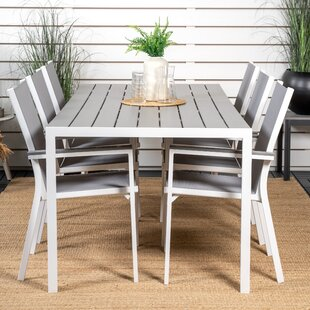 Aldis 6 Seater Dining Set By Sol 72 Outdoor