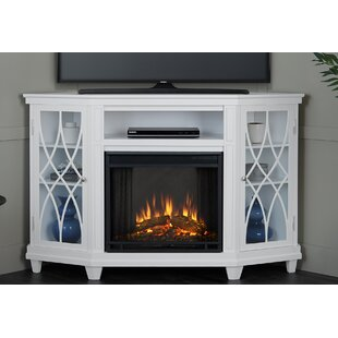 Lynette TV Stand for TVs up to 55 with Fireplace by Real Flame