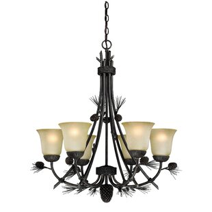 Millwood Pines Aarush 6-Light Shaded Chandelier