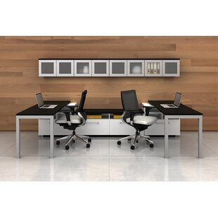 Trig Mirror 6 Piece U-Shape Desk Office Suite by Trendway