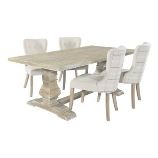 Chalmers Dining Set With 4 Chairs By Fleur De Lis Living