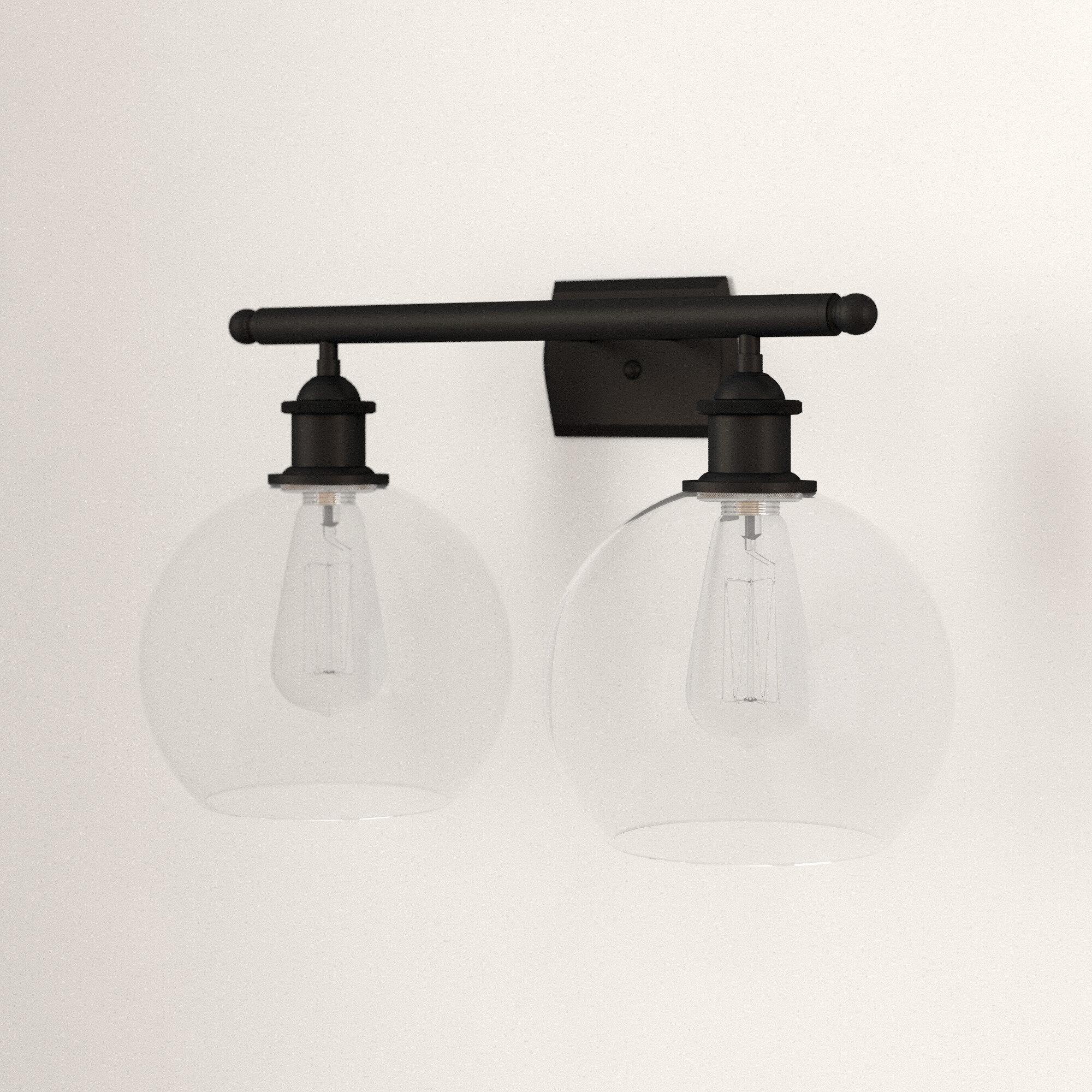 Mercury Row Anchondo 2 Light Dimmable Vanity Light Reviews Wayfair