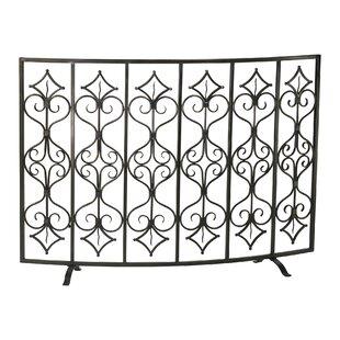 Casablanca Single Panel Iron Fireplace Screen By Cyan Design