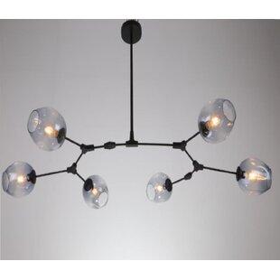 Daren 6-Light LED Shaded Chandelier