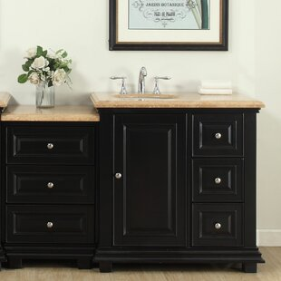 Heanor 56 Single Bathroom Modular Vanity Set with Sink on Left Side By Fleur De Lis Living