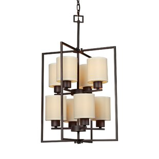 Winston Porter Waldrop 8-Light Shaded Chandelier
