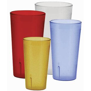 Pebbled 20 oz. Plastic Every Day Glass (Set of 12)