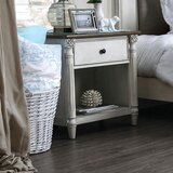 Madona 1 - Drawer Nightstand in Antique White by Cozzy Design