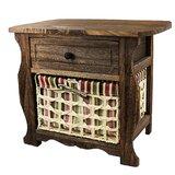 Long Ashton Wood Storage 1 Drawer Nightstand by Millwood Pines