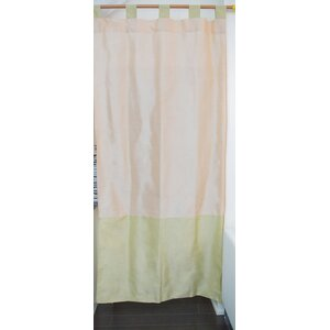 Tuscany Striped Semi-Sheer Tab Top Curtain Panels (Set of 2)
