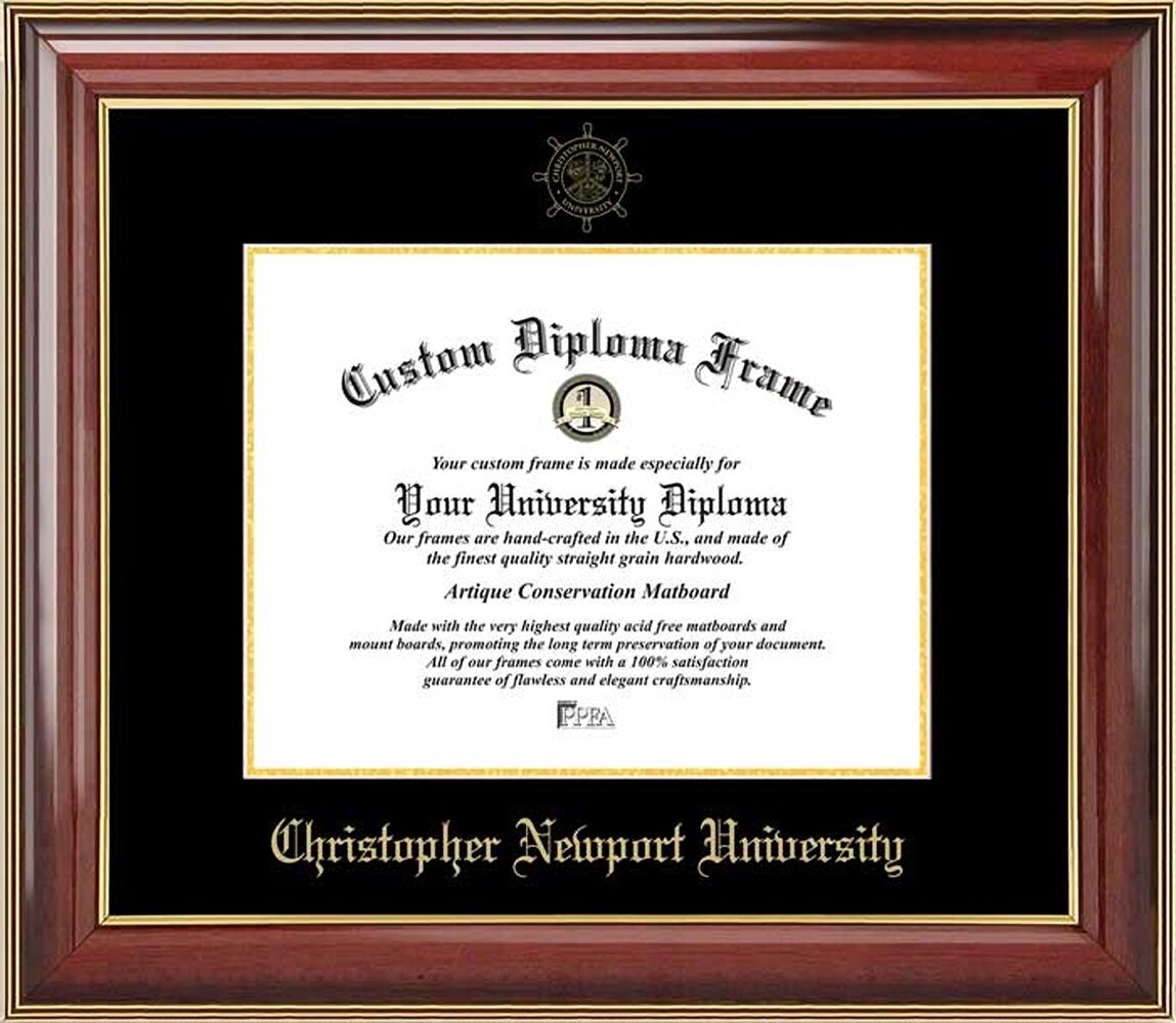 Diploma Frame Deals Christopher Newport University Picture Frame Wayfair