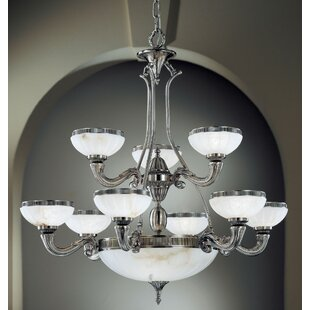 Classic Lighting Chelsea 10-Light Shaded Chandelier