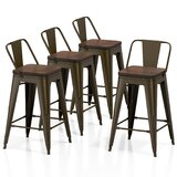 Walston Solid Wood 24 Counter Stool (Set of 4) by Williston Forge