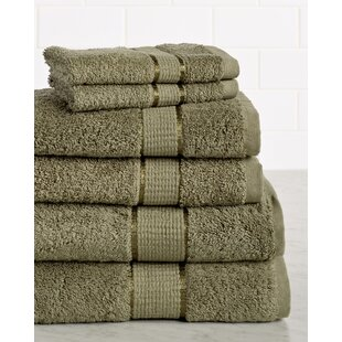 Booker Premium 650 GSM 6 Piece 100% Cotton Towel Set