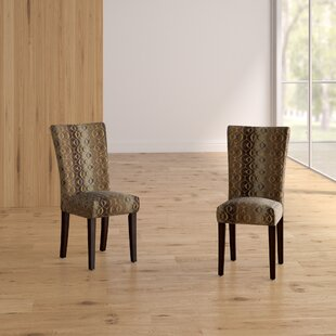 Etna Stripe Side Chair (Set of 2) Latitude Run