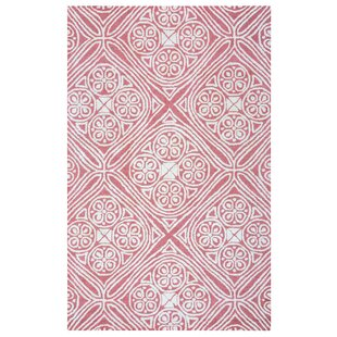 Belfast Hand Tufted Pink Ivory Area Rug